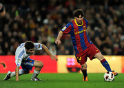 Lionel Messi proudly wears the Barcelona jersey - red, blue, and Nike!