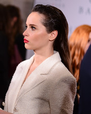 Felicity Jones rocked a slick 'do at the Washington D.C. screening of 'On the Basis of Sex.'