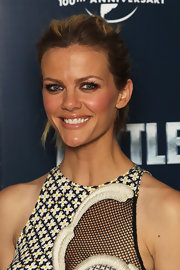 Brooklyn Decker wore her hair in a casual ponytail while attending a photocall for 'Battleship.'