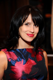 Hilaria Baldwin went for a bit of retro flair with this flip hairstyle during her Beach magazine cover celebration.