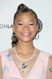 Storm Reid styled her hair into a long braid for the Beautycon Festival LA 2018.