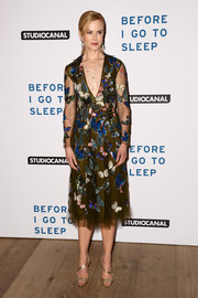 Nicole Kidman looked downright beautiful in a Valentino butterfly-sequined dress during the gala screening of 'Before I Go to Sleep.'