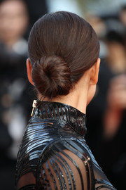 Irina Shayk kept it simple and classic with this bun at the Cannes Film Festival screening of 'The Beguiled.'
