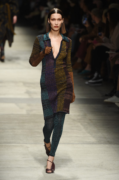 Bella Hadid Print Dress [fashion show,fashion model,fashion,runway,clothing,fashion design,public event,event,dress,shoulder,bella hadid,part,missoni - runway,runway,milan,italy,missoni,milan fashion week,fashion show,milan fashion week fall,fashion,runway,prada,fashion show,fashion week,italian fashion,haute couture,model,supermodel]