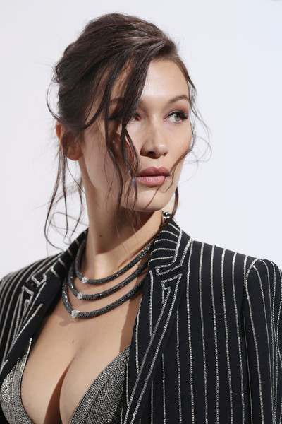 Bella Hadid Layered Diamond Necklace