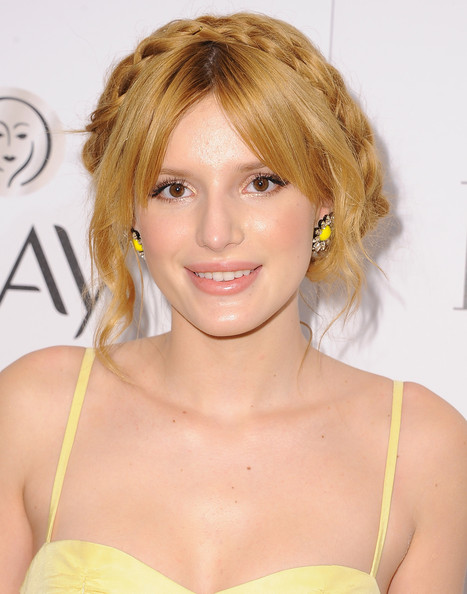 Bella Thorne Braided Updo
