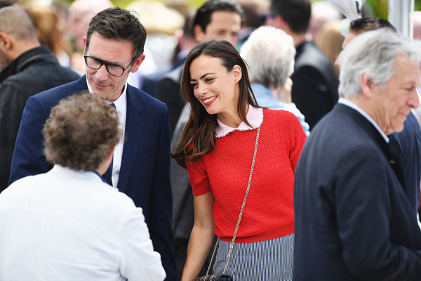 Berenice Bejo Knit Top [red,people,event,yellow,community,crowd,fun,white-collar worker,businessperson,employment,cannes,france,cannes film festival,anniversary photocall,palais des festivals,nicolas winding refn,berenice bejo]