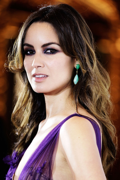 Berenice Marlohe Long Wavy Cut with Bangs