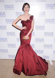 Coco Rocha's love affair with Zac Posen's gowns continued at the Bergdorf Goodman anniversary celebration.