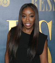 Estelle wore her super-long tresses down during the New York screening of 'Bessie.'