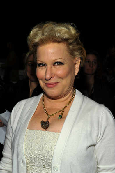 Bette Midler Fauxhawk [hair,face,hairstyle,eyebrow,blond,chin,beauty,lip,fashion,forehead,michael kors,bette midler,front row,lincoln center,new york city,the theatre,mercedes-benz fashion week,fashion show]