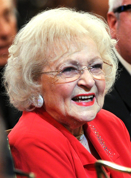 Betty White Bob [facial expression,wrinkle,smile,chin,grandparent,glasses,laugh,elder,morgan freeman,betty white,audience,afi life achievement award,tribute,backstage,sony pictures studios,culver city,california,tv land]