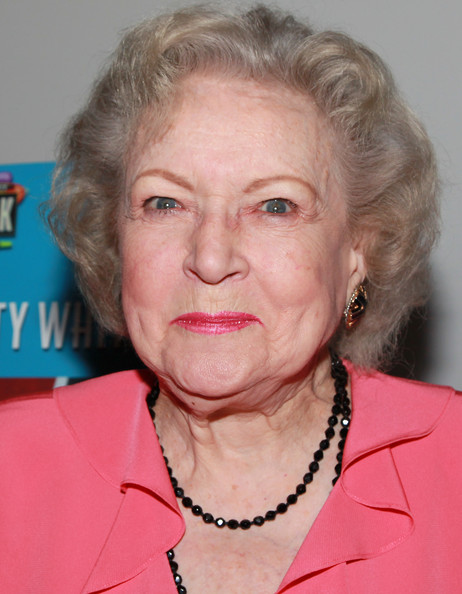 Betty White Short Curls [face,hair,chin,head,lip,blond,forehead,wrinkle,betty white,betty white gets ``naked,universal citywalk,hot dog,universal city,california,pink,pinks hot dogs,opening,unveiling]