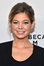 Analeigh Tipton swept her hair back into a loose updo for the Tribeca Film Fest premiere of 'Between Us.'