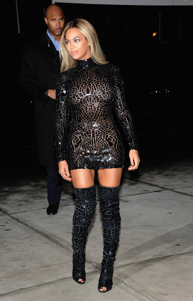 More Pics of Beyonce Knowles Over the Knee Boots (1 of 10) - Boots Lookbook - StyleBistro