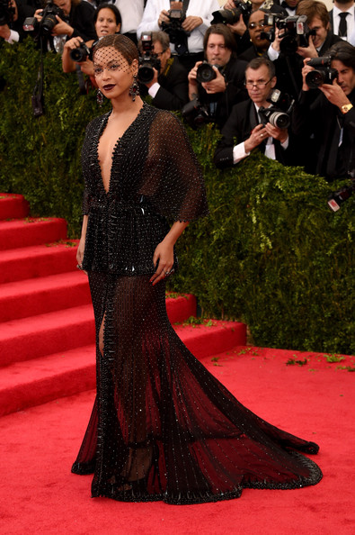 Beyonce Knowles Beaded Dress