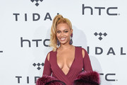 Beyonce Knowles Wrap Dress