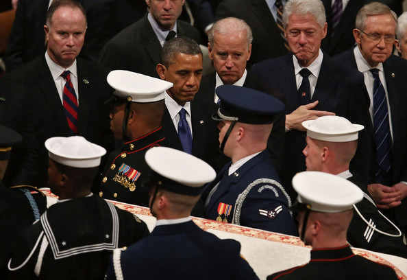 Obama And Biden Deliver Remarks At Funeral For Daniel Inouye