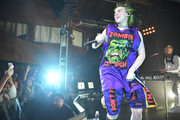 Billie Eilish was casual in a graphic tank top while performing at an exclusive concert for SiriusXM.