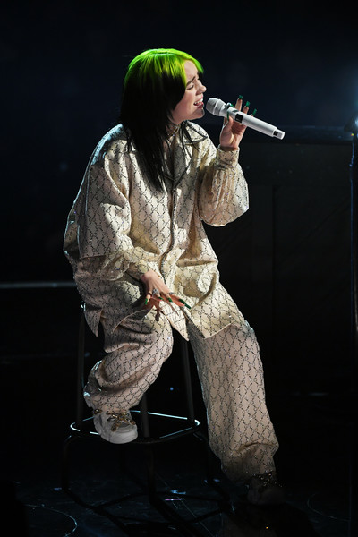Billie Eilish Loose Blouse [performance,performing arts,music,singer,singing,musician,event,soldier,stage,concert,billie eilish,staples center,los angeles,california,annual grammy awards,show,billie eilish,staples center,grammy awards,when the partys over,grammy award for song of the year,grammy award for album of the year,grammy award for best new artist,grammy award for best rock performance,grammy award for best pop vocal album]