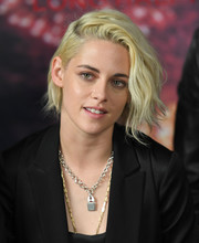 Kristen Stewart attended the photocall for 'Billy Lynn's Long Halftime Walk' wearing her hair in punky waves.