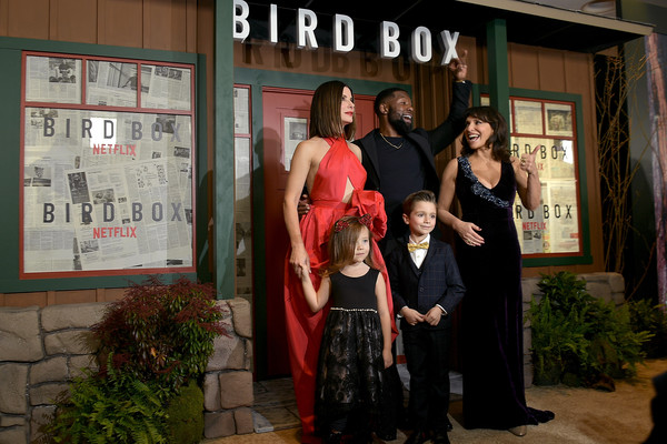 More Pics of Sandra Bullock Red Lipstick (8 of 16) - Sandra Bullock Lookbook - StyleBistro [red,event,ceremony,formal wear,wedding,dress,wedding reception,family,susanne bier,actors,actors,sandra bullock,bird box,back row,front row,new york,screening,screening]