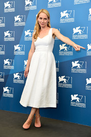 Amy Ryan chose a retro-chic LWD for the 'Birdman' photocall in Venice.