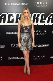 Zosia Mamet brought some sparkle to the 'BlacKkKlansman' New York premiere with this sequined mini dress.