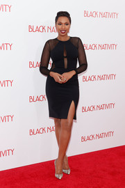 Jennifer Hudson looked phenomenal in a sheer-panel LBD by Yigal Azrouël during the 'Black Nativity' premiere.