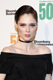 Coco Rocha sported a gelled side-parted 'do at the Bloomberg 50 celebration.