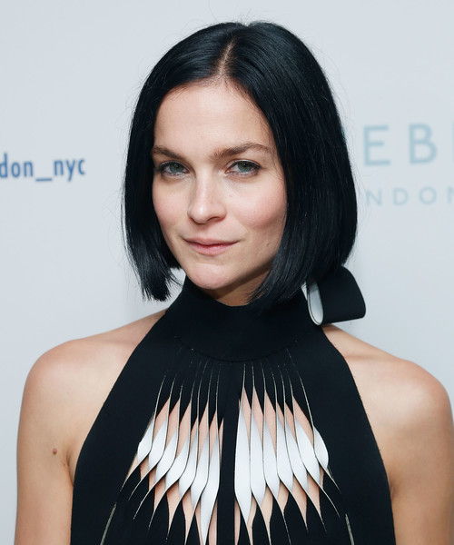 Leigh Lezark was stylishly coiffed with this sleek graduated bob at the Bluebird London NYC launch.