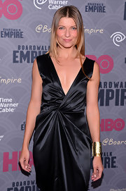 A thick gold cuff bracelet added major shine to Ivana Milicevic's ensemble when she attended the 'Boardwalk Empire' season four premiere.