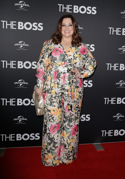 Melissa McCarthy was all abloom in a floral jumpsuit from her clothing line, Melissa McCarthy Seven7, at the Sydney premiere of 'The Boss.'