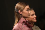 Gigi Hadid wore a sleek straight cut while walking the Bottega Veneta runway.