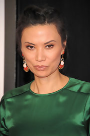 Wendi Deng braided her hair and tied it up for a movie premiere.