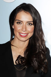 Christine Bleakley swept her dark glossy tresses over one shoulder when attending a special screening of 'We Bought a Zoo.'