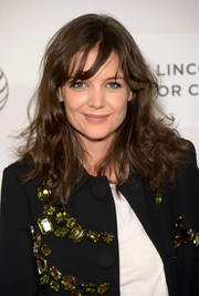 Katie Holmes wore a just-got-out-of-bed hairstyle at the 'Boulevard' premiere.