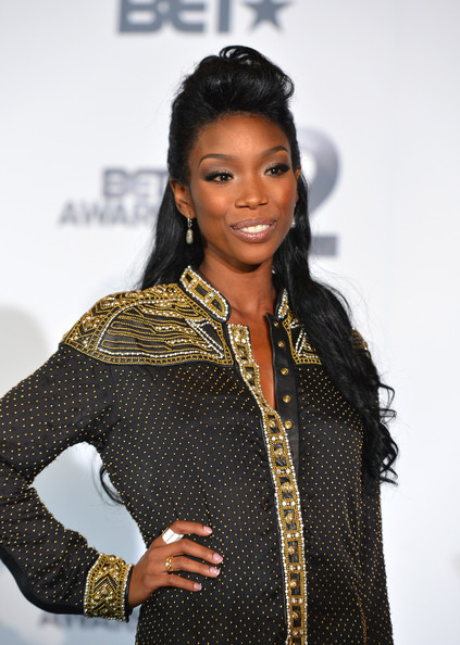 Brandy Silver Ring [brandy,bet awards,2012 bet awards,fashion,beauty,hairstyle,fashion design,black hair,outerwear,long hair,performance,model,photography,room,press room,california,los angeles,the shrine auditorium]