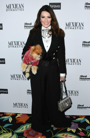 Lisa Vanderpump opted for a black tuxedo when she attended the 'Real Housewives of Beverly Hills' premiere party.