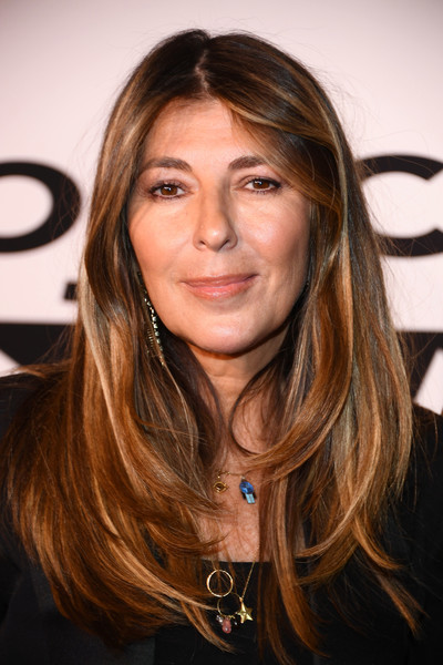 Nina Garcia sported a center-parted layered cut at the 'Project Runway' New York premiere.