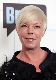 Hairstylist Tabatha Coffey showed off her famous blonde cropped mane. The stylist currently has her own show with Bravo where she displays her talent for making the perfect cut.