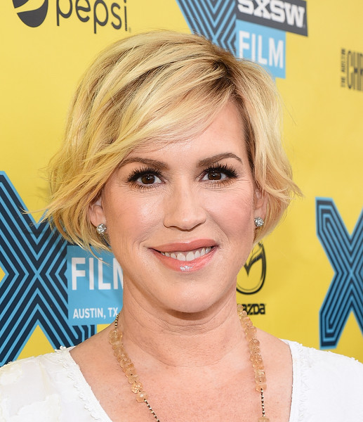 Molly Ringwald looked cute and youthful with her bob at the 'Breakfast Club' 30th anniversary event.