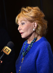 Barbara Walters wore an elegant wavy 'do at the Breast Cancer Research Foundation Symposium.