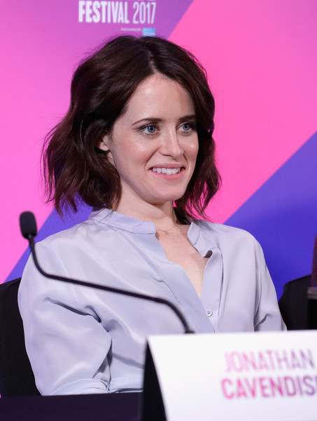 More Pics of Claire Foy Short Wavy Cut (1 of 20) - Claire Foy Lookbook - StyleBistro [event,employment,television presenter,spokesperson,claire foy,breathe,london,england,breathe press conference,bfi london film festival,press conference]