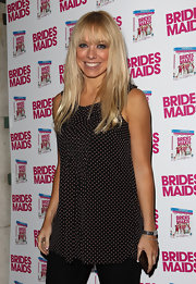 Liz Mcclarnon looked darling in a sleeveless pin-dot blouse at the 'Bridesmaids' DVD launch.