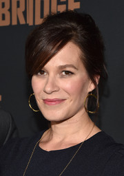 Franka Potente went for a retro feel with this messy beehive at the premiere of 'The Bridge.'
