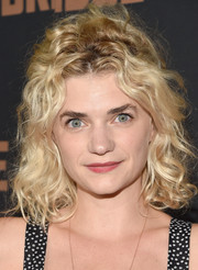 Megan Ferguson sported a mop of blond curls during the premiere of 'The Bridge.'