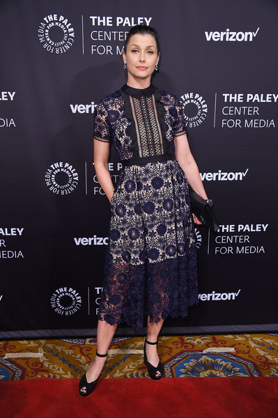 Bridget Moynahan Lace Dress [paley honors: celebrating women in television,red carpet,carpet,clothing,premiere,fashion,dress,flooring,footwear,fashion design,event,bridget moynahan,new york city,cipriani wall street,the paley honors: celebrating women in television,event]