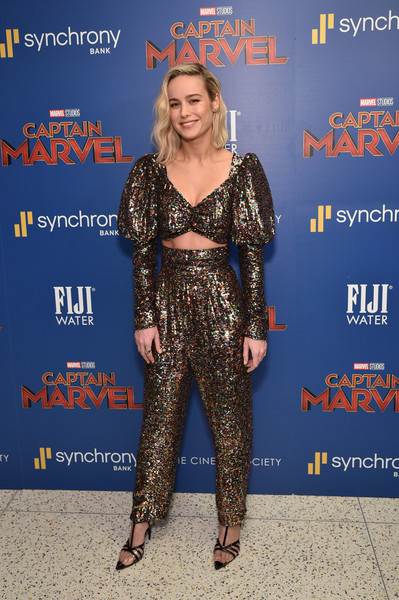 Brie Larson High-Waisted Pants
