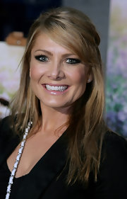 Natalie Bassingthwaighte had the corners of her eyes lined with black liner for the 'Bright Star' premiere.